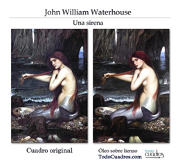 Copia de arte realista de Waterhouse.