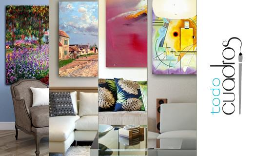 Cuadros decorativos arte al leo para decoraci n moderna for Decoracion para pared blanca