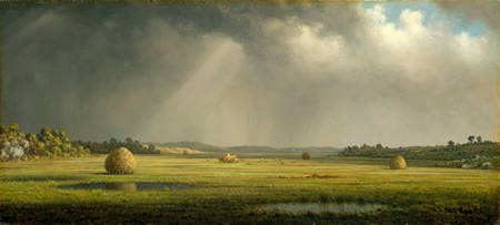 """Newburyport Meadows"" de Martin Johnson Heade."