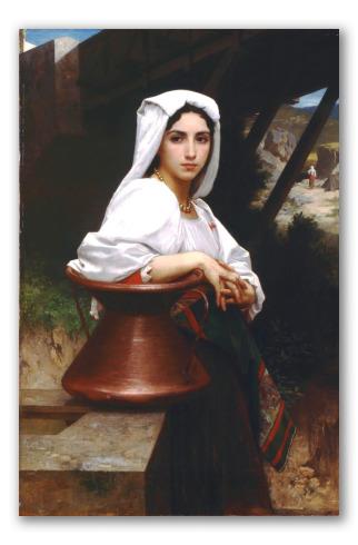 Joven Italiana Sacando Agua