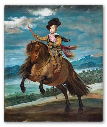 El príncipe Baltasar Carlos a caballo