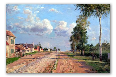 Camino a Versalles, Rocquencourt