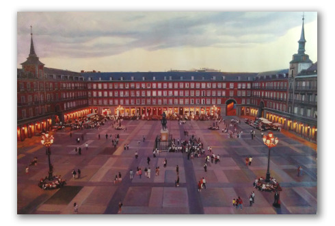 La Plaza Mayor de Madrid, Atardecer