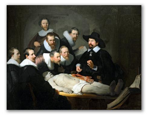 """Obra """"Lección de anatomía del Dr. Nicolaes Tulp"""""""