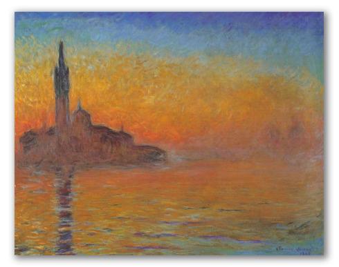 Crepúsculo en Venecia