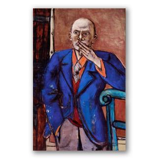 Autorretrato con chaqueta azul