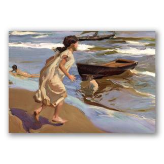 Niña Entrando al Mar