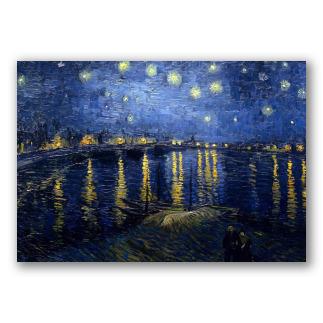 La noche estrellada sobre el Ródano