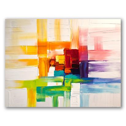 Colores del prisma, obra abstracta